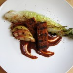 Tempeh a la Memphis, Grilled Romaine, Charred Apple, Hickory BBQ Sauce, from PMSC #13: Mississippi