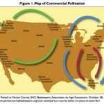 Commercial pollination routes.