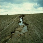 An actively eroding rill on an intensively-farmed field in eastern Germany. (http://en.wikipedia.org/wiki/Erosion)