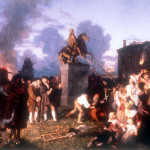 """Pulling Down the Statue of King George III,"" Johannes Adam Simon Oertel, New York, ca. 1859"