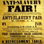 Anti-Slavery Fair Poster from 1849.