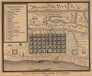 Plan of New Orleans, 1728