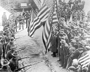 Peaceful assembly at the 1912 Lawrence Textile Strike.