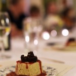 Cheesecake, Raspberry Coulis, Brownie Crumble. Photo courtesy of Jo-Anne McArthur.