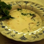 Second Course: Tom Kha with Lemongrass Smoked Tofu. Photo courtesy of MeShell Gudz, Vegan in Your City.