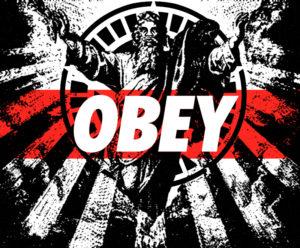 """Obey"" poster by Felisha Shier."